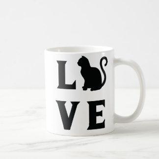 Caneca De Café Gato do amor