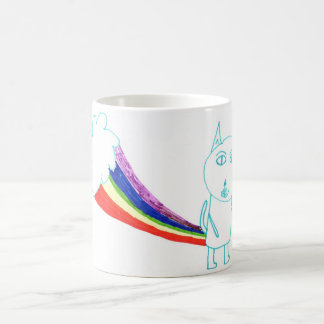 Caneca De Café Gato do arco-íris de Walter