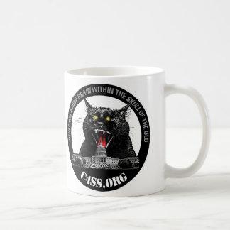 Caneca De Café Gato do laser da dominação de C4SS