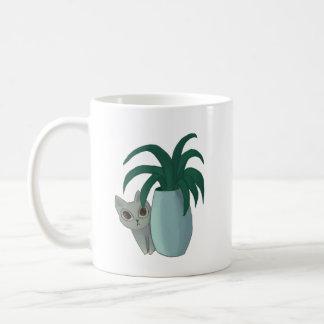 Caneca De Café Gato e planta