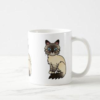 Caneca De Café Gato malhado Birman do ponto do selo/gato de
