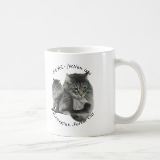 Caneca De Café Gato norueguês da floresta do pURR-fection