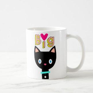 Caneca De Café Gato preto dos desenhos animados com ícone e