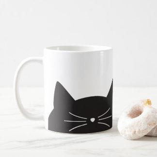Caneca De Café Gato preto, suiças e cauda
