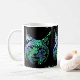 Caneca De Café Gato selvagem do espaço cósmico do efeito 3D | do