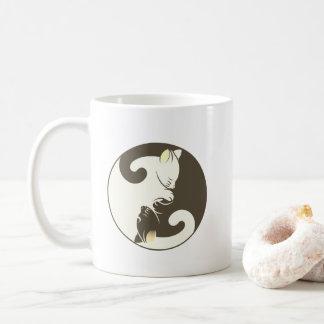 Caneca De Café Gato Yin Yang | Brown do gatinho
