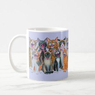 Caneca De Café Gatos de Caroling, gatos do canto, envoltório em