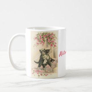 Caneca De Café Gatos do casamento - matrona da honra,