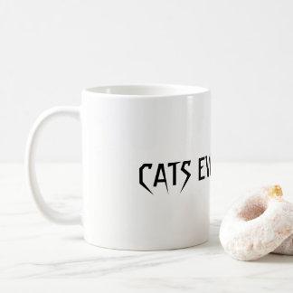 Caneca De Café Gatos em toda parte