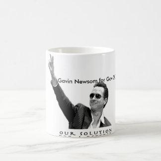 Caneca De Café Gavin Newsom para Gov 2010