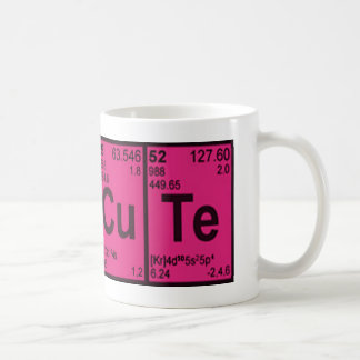 "Caneca De Café Geek ""bonito"" de cobre das meninas do rosa quente"