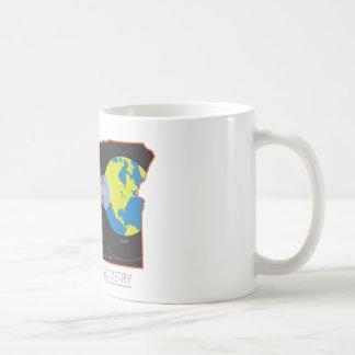 Caneca De Café Geometria do eclipse 2017 solar através das
