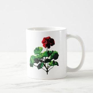 Caneca De Café Gerânio vermelho retroiluminado