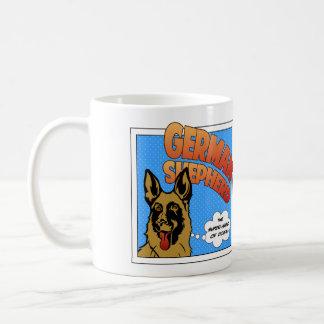Caneca De Café German shepherd - super-herói