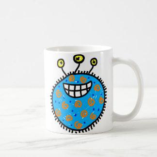 Caneca De Café Germe azul dos desenhos animados