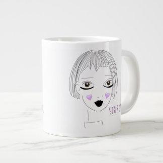 Caneca De Café Gigante A menina sóbrio ama o café