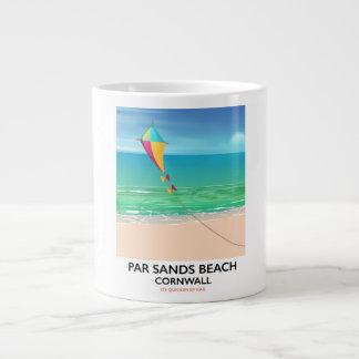 Caneca De Café Gigante A paridade lixa o poster de viagens da praia de