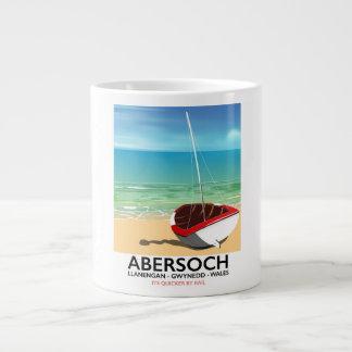 Caneca De Café Gigante Abersoch, poster de viagens de Llanengan Wales