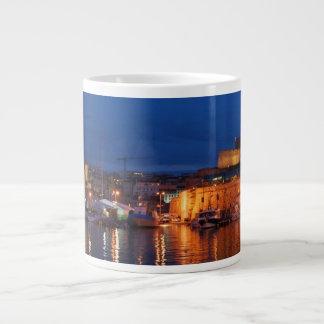 Caneca De Café Gigante Agrida o porto enorme de Marselha - de Le vieux (o