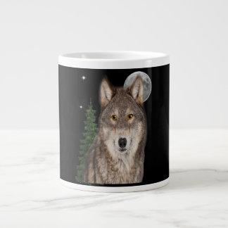 Caneca De Café Gigante arte do lobo