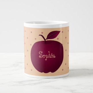 Caneca De Café Gigante As bolinhas românticas roxas de Apple empalidecem