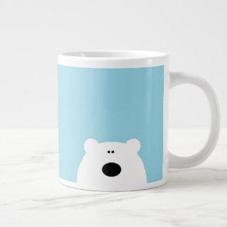 Caneca De Café Gigante Azul do urso polar