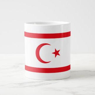Caneca De Café Gigante Bandeira do norte de Chipre
