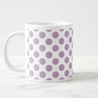 Caneca De Café Gigante Bolinhas do Lilac