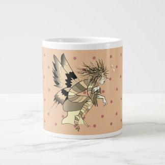 Caneca De Café Gigante Bolinhas masculinas feericamente da borboleta do