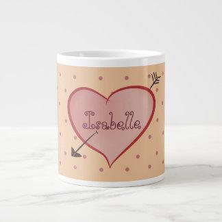 Caneca De Café Gigante Bolinhas personalizadas do coração desenhos