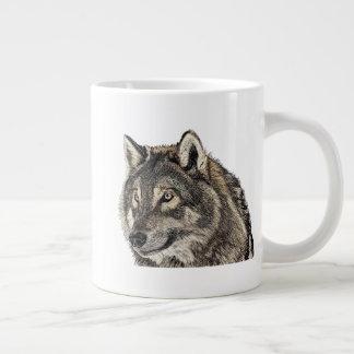 Caneca De Café Gigante Cabeça do lobo