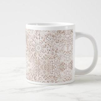 Caneca De Café Gigante Copo antigo da porcelana dos flocos de neve do
