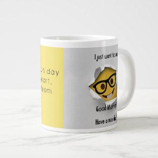 Caneca De Café Gigante copo de inspiração da manhã