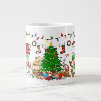 Caneca De Café Gigante Design excessivo para pessoas obsessivas do Natal
