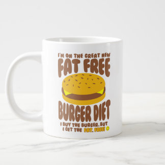 Caneca De Café Gigante Dieta livre de gordura do hamburguer
