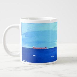 Caneca De Café Gigante Embarcação mercante arfada nos grandes lagos