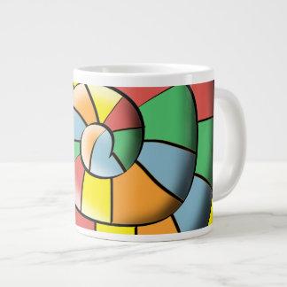 Caneca De Café Gigante Espiral colorida