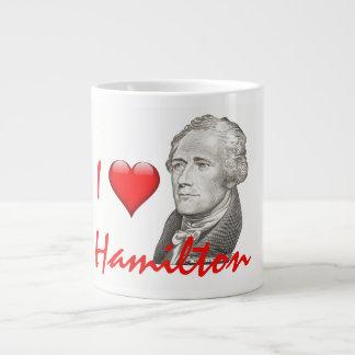 "Caneca De Café Gigante ""Eu amo o retrato de Hamilton"" Alexander Hamilton"
