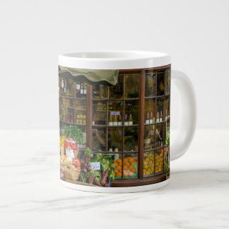 Caneca De Café Gigante Fruta e loja inglesa colorida da vila de Veg