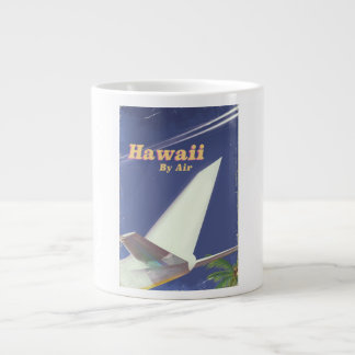 Caneca De Café Gigante Impressão das férias do vintage do vôo de Havaí