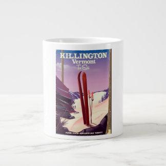 Caneca De Café Gigante Killington, cópia do viagem do esqui de Vermont