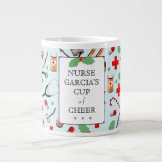 Caneca De Café Gigante Natal da enfermeira
