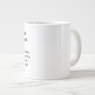 Caneca De Café Gigante No deus do começo criado