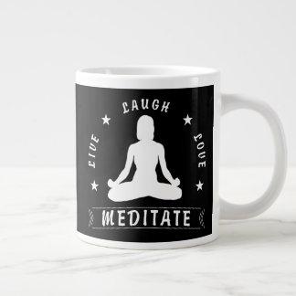 Caneca De Café Gigante O amor vivo do riso Meditate o texto fêmea