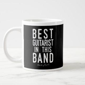 Caneca De Café Gigante O melhor guitarrista (talvez) (branco)