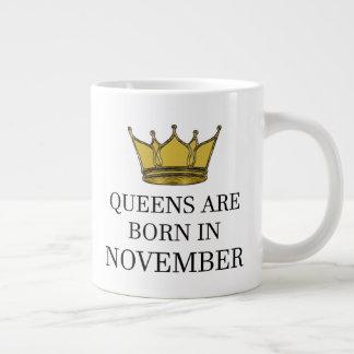 Caneca De Café Gigante O Queens é nascido em novembro