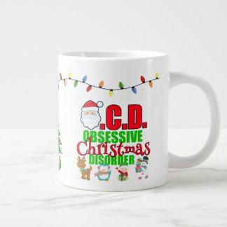 Caneca De Café Gigante Para a pessoa leve obsessiva do Natal