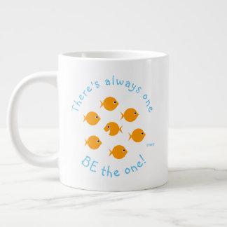 Caneca De Café Gigante Peixe dourado bonito das citações inspiradas do