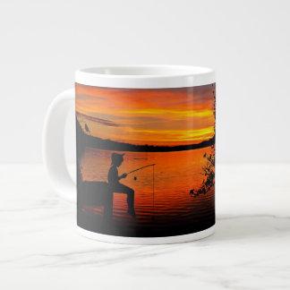 Caneca De Café Gigante Pesca no por do sol
