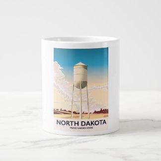 Caneca De Café Gigante Poster de viagens da torre de água de North Dakota